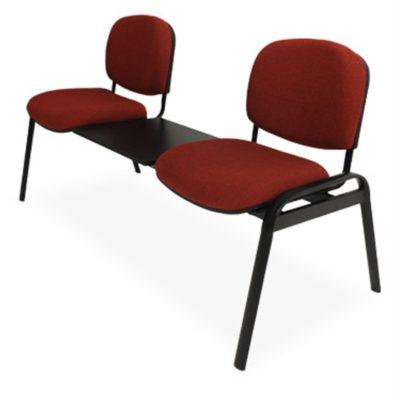 Banca solution 2 plazas con mesa tela sin brazos