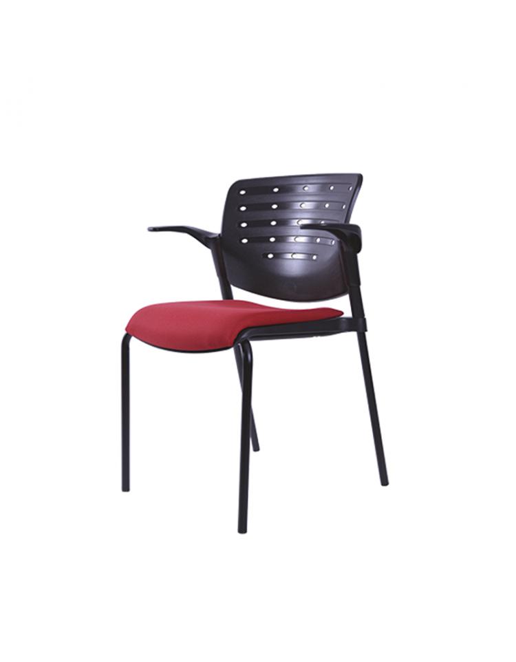 Silla polivalente de polipropileno con asiento tapizado modelo BM 821 N