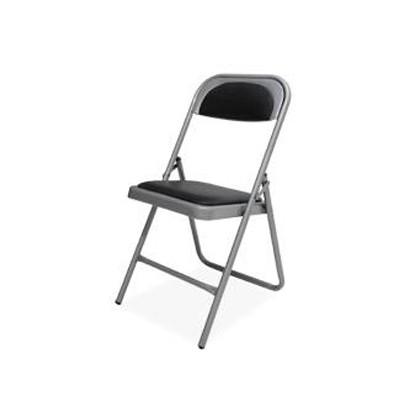 silla de visita plegable 1800 metalica vinil