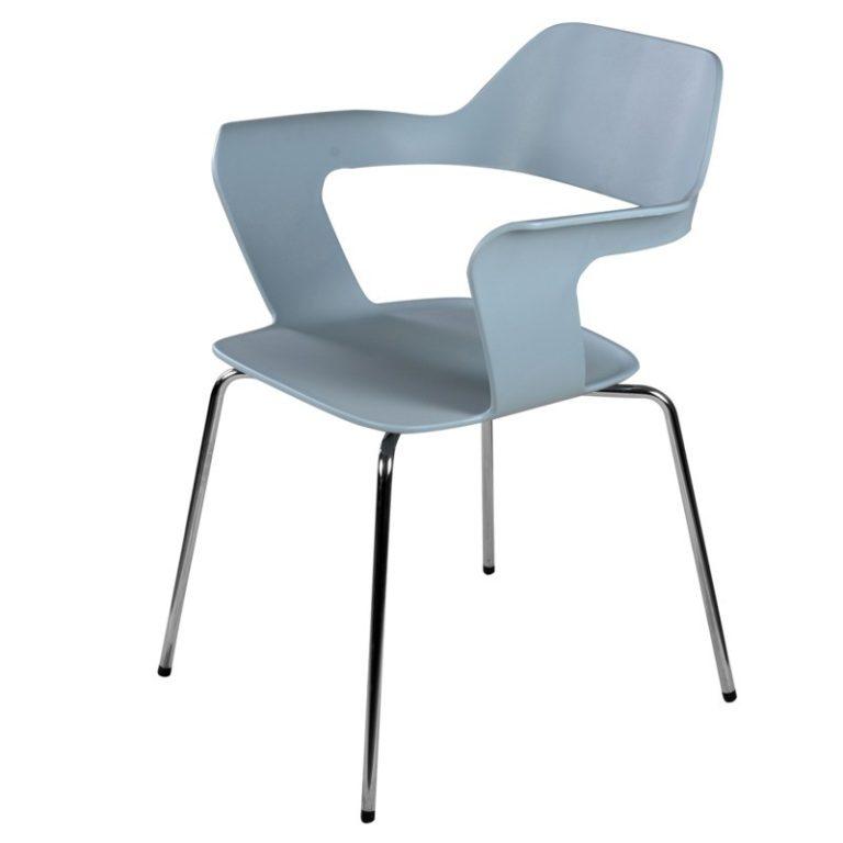 silla de visita reu con brazos plastico