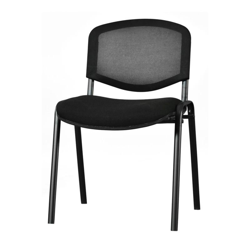 silla genova sin brazos mesh y tela negro